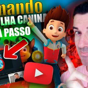 Como criar Vídeos Animados para Canal infantil | Patrulha Canina passo a passo #canalinfantil