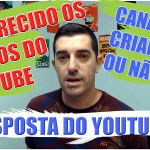 COPPA Resposta do youtube quanto aos novos termos e NOVA CONFIGURAÇÃO DO YOUTUBE CANAL PARA CRIANÇAS