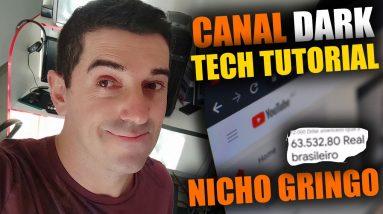 Canal de Tecnologia Ideia de Nicho Dark Poderoso sem Aparecer Ganhar dinheiro no Youtube