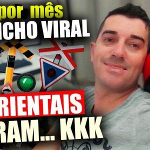 Canal Dark Gringo ganha 298.000,00 Sem Aparecer com Cancelas de Trem | Ganhar dinheiro no Youtube