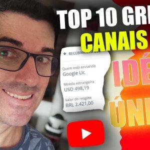 Top 10 Canais Dark Gringos para Ganhar Dinheiro Sem Aparecer no Youtube