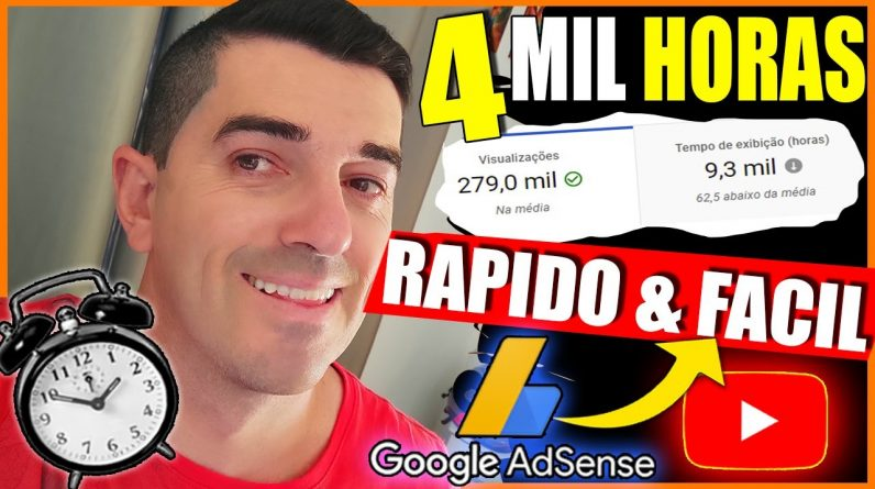[ GARANTIDO ] SEO - Como conseguir as 4 mil Horas e os 1000 inscritos no Youtube. FALEI DEMAIS...